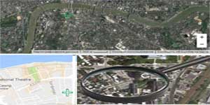 Magnifying glass for satellite images