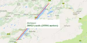 Google maps to determine the distance