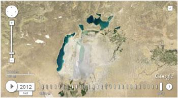 Аральськое море, фото со спутника 2012 год